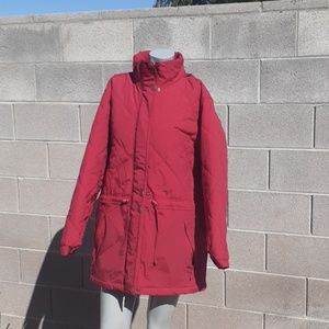 L.L. Bean Red Hooded Jacket